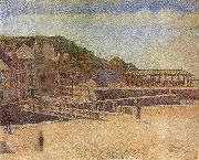Georges Seurat The Bridge of Port en bessin and Seawall china oil painting artist