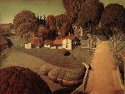 Grant Wood Hoover-s Birthplace painting