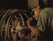 Grant Wood Helix Welder painting