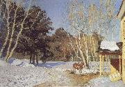 Isaac Levitan March oil on canvas