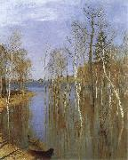 Isaac Levitan Spring,Flood Water oil on canvas