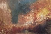 Joseph Mallord William Turner Houses of Parliament on Fire painting