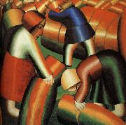 Kasimir Malevich Harvest Rye painting