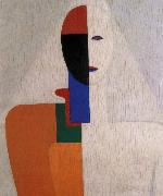 Kasimir Malevich Half-length of Female painting