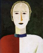 Kasimir Malevich Head of female painting