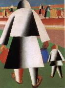 Kasimir Malevich Harvest season oil painting reproduction