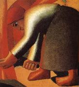 Kasimir Malevich Harvest Woman painting