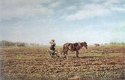 Mikhail Klodt In the Ploughed Field oil painting