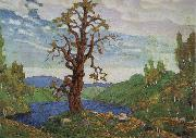 Nikolai Roerich Kissing the Earth oil