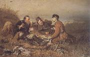 Perov, Vasily Hunters at Rest painting