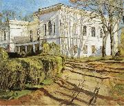 Stanislav Zhukovsky The White House oil on canvas