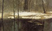 Stanislav Zhukovsky Spring Floods oil on canvas