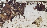 Valentin Serov Peter the Great Riding to Hounds oil painting