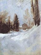 Valentin Serov Winter in Abramtsevo A House oil painting