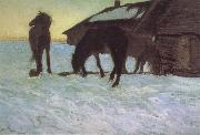 Valentin Serov Colts at a Watering-Place. oil painting