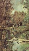 Valentin Serov Little Pond Abramtsevo oil painting
