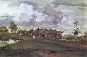 Valentin Serov A Village oil painting reproduction
