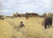 Valentin Serov October in Domotkanovo oil painting