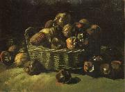 Vincent Van Gogh Still life with Basket of Apples (nn04) oil painting reproduction