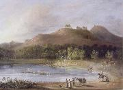 unknow artist Hill and Lake of Ture painting