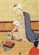 Qays,the future Majnun,begins as a scribe to write his poem in honor of the theophany through Layli