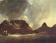 unknow artist A View of the Cape of Good Hope,taken on the spot,from on board the Resolution,capt,coode,November 1772 oil painting reproduction