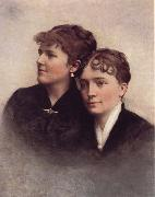 A. Bryan Wall Wife and Sister oil painting