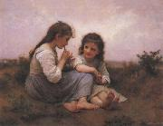 Adolphe Bouguereau Two Girls oil painting reproduction