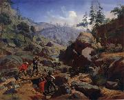 Charles Christian Nahl and august wenderoth Miners in the Sierras oil on canvas