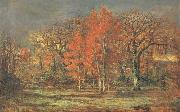 Charles leroux Edge of the Woods,Cherry Tress in Autumn oil on canvas
