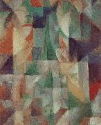 Delaunay, Robert The Window towards to City oil painting reproduction