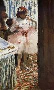 Edgar Degas The actress in the tiring room china oil painting artist