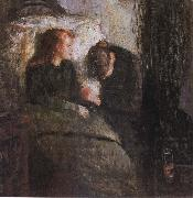 Edvard Munch The Children is ill oil painting reproduction