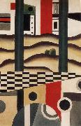 Fernard Leger Bridge oil on canvas