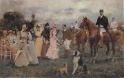 Francisco Miralles Y Galup The Polo Match oil on canvas