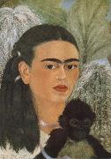 Frida Kahlo The monkey and i oil painting reproduction