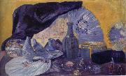 James Ensor Harmony in Blue painting
