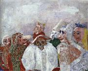 James Ensor Masks Confronting Death Or Masks Mocking Death oil painting reproduction