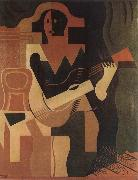 Juan Gris The clown playing Guitar china oil painting artist