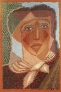 Juan Gris The fem wearing the scarf china oil painting artist