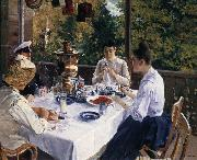 Konstantin Korovin Have tea painting