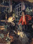 Konstantin Korovin Near the window oil painting reproduction