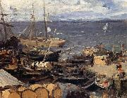 Konstantin Korovin Port oil painting reproduction