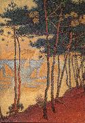 Paul Signac Sail boat and pine oil painting reproduction