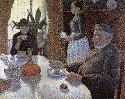 Paul Signac Dinner room oil painting reproduction