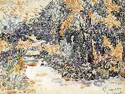 Paul Signac Artist-s Garden oil painting reproduction