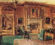 Walter Gay Living Hall oil on canvas