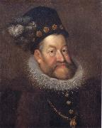 AACHEN, Hans von Emperor Rudolf II oil on canvas