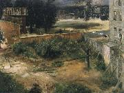 Adolph von Menzel Rear Counryard and House oil on canvas