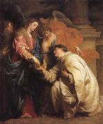 Anthony Van Dyck The mystic marriage of the Blessed Hermann Foseph with Mary oil painting reproduction